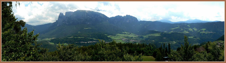 le Dolomites et le Sciliar depuis le belvedere de Collalbo - Renon