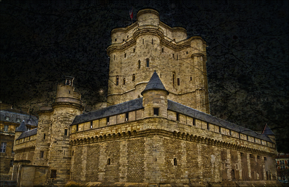 Le donjon du château de Vincennes .
