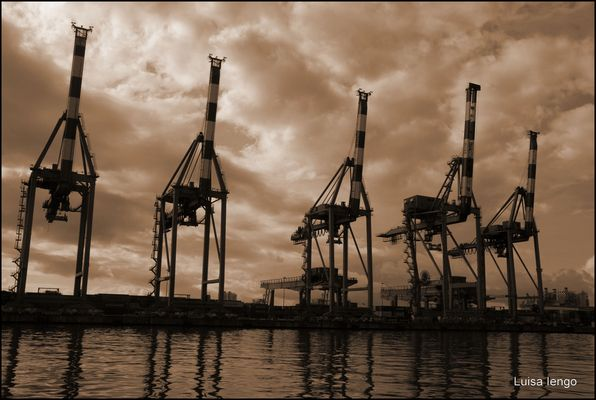 """""""Le giraffe"""" del porto di Genova"""