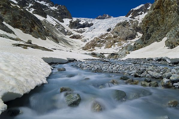 le glacier blanc dans le parc national des Ecrins