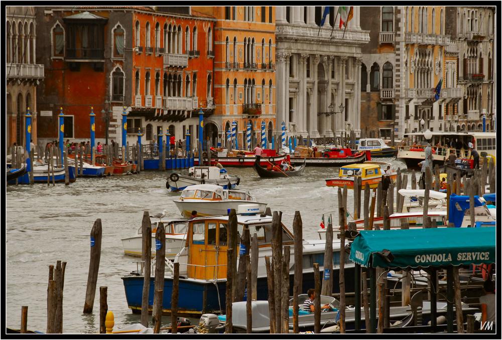 Le grand canal, vu du Rialto