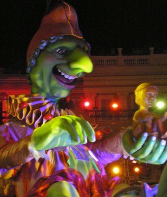 Le gros nez vert du carnaval