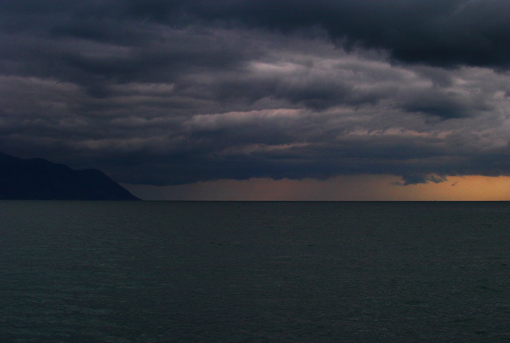Le haut Lac Léman un jour d'orage
