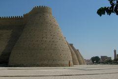 Le imponenti mura di Bukhara