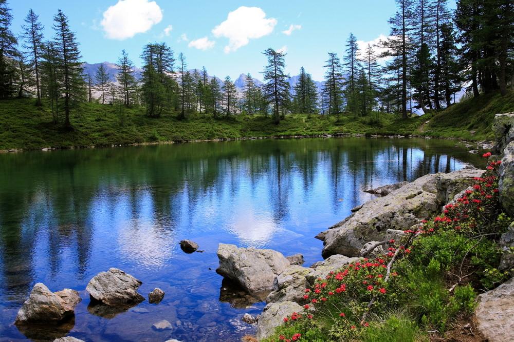 Le lac des Adus (Mercantour 2140m)