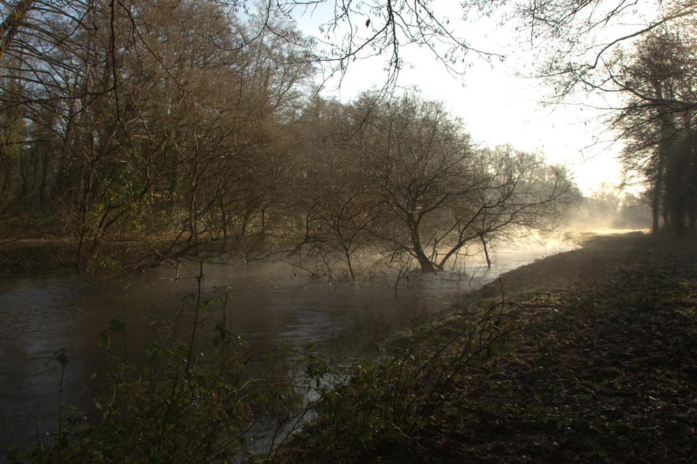 le long de la rivière !!