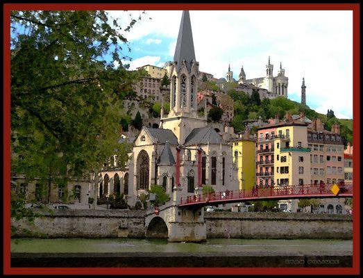 Le long des bords de la Saône