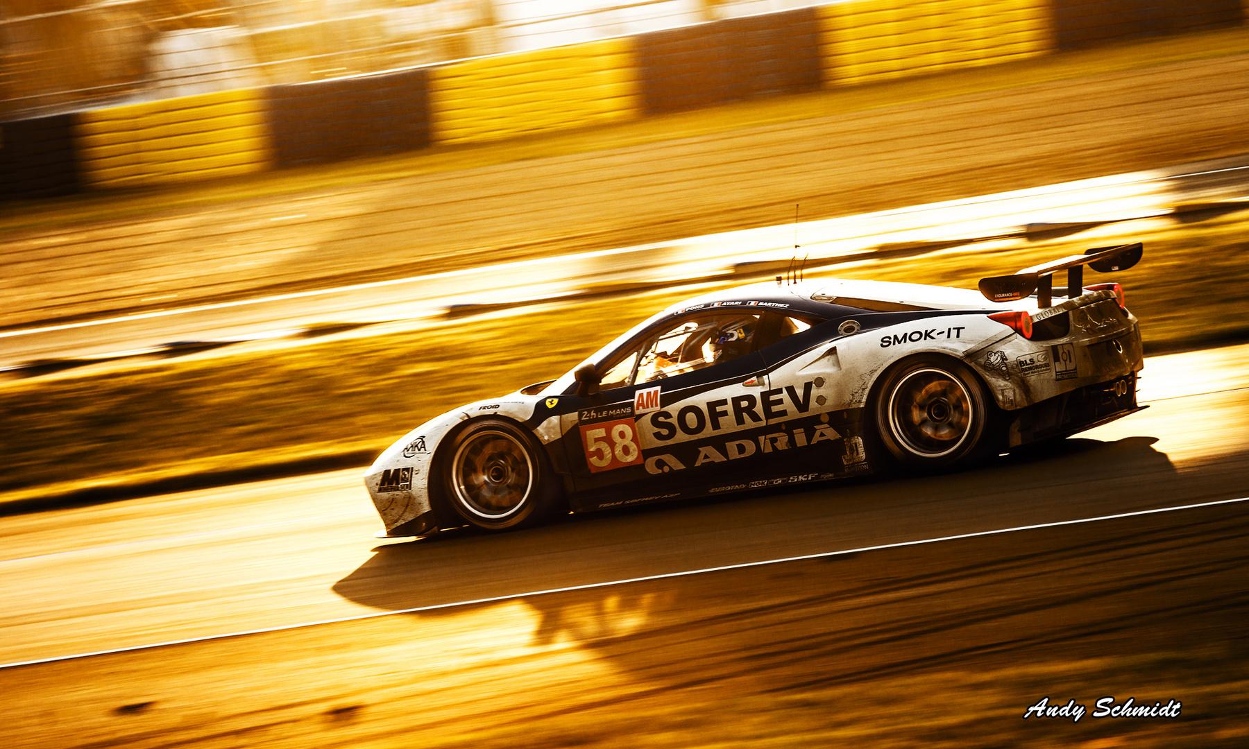 Le mans 2014 Lichtstimmung Ferrari