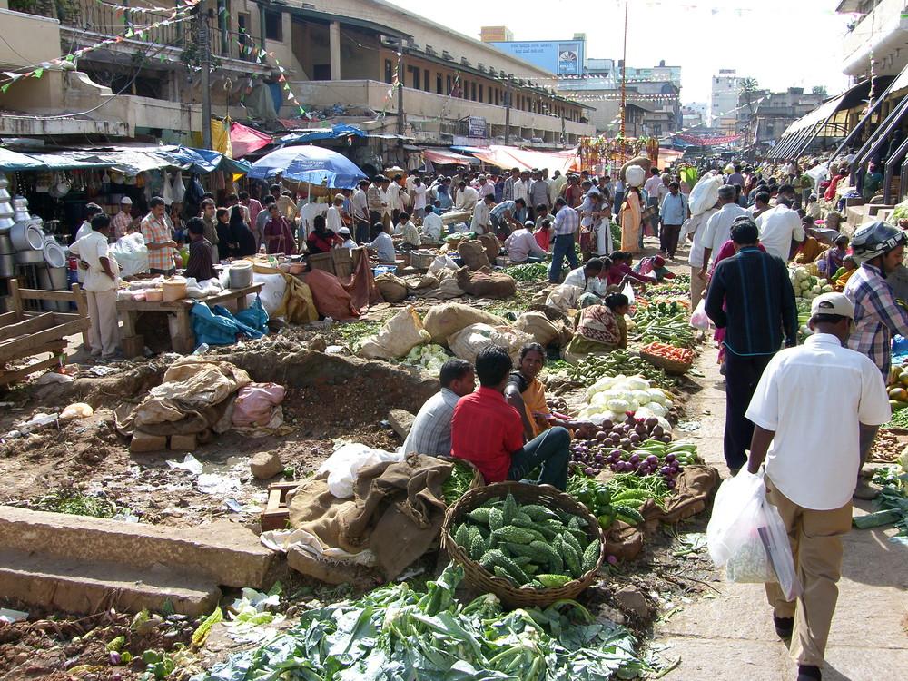 Le marché à Bangalore