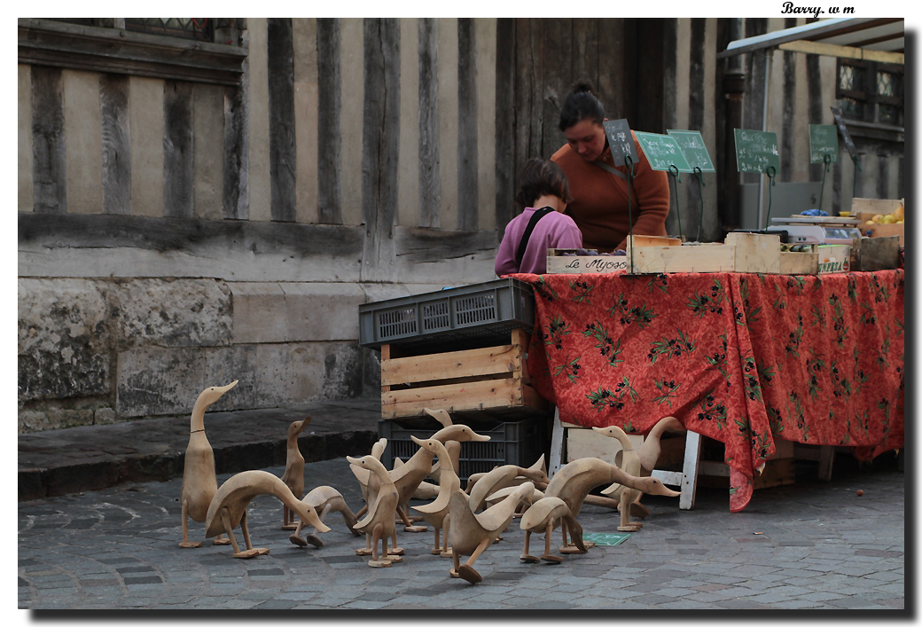 Le marché aux volailles