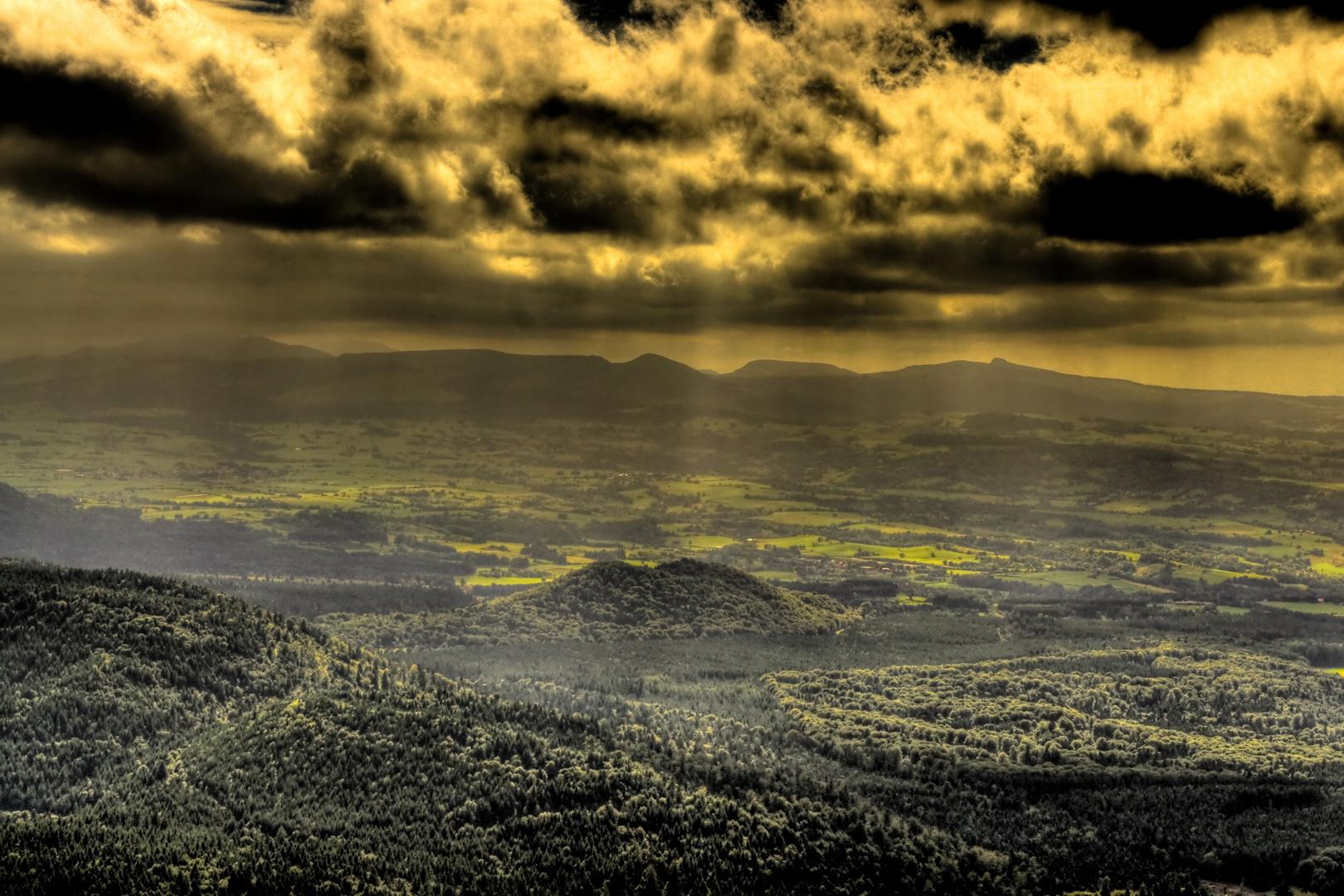 Le Massif du Sancy vu du Puy de Dôme