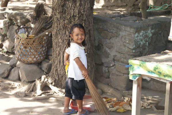 Le ménage à Tenganan (Bali)