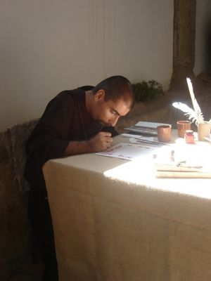 Le moine scribe