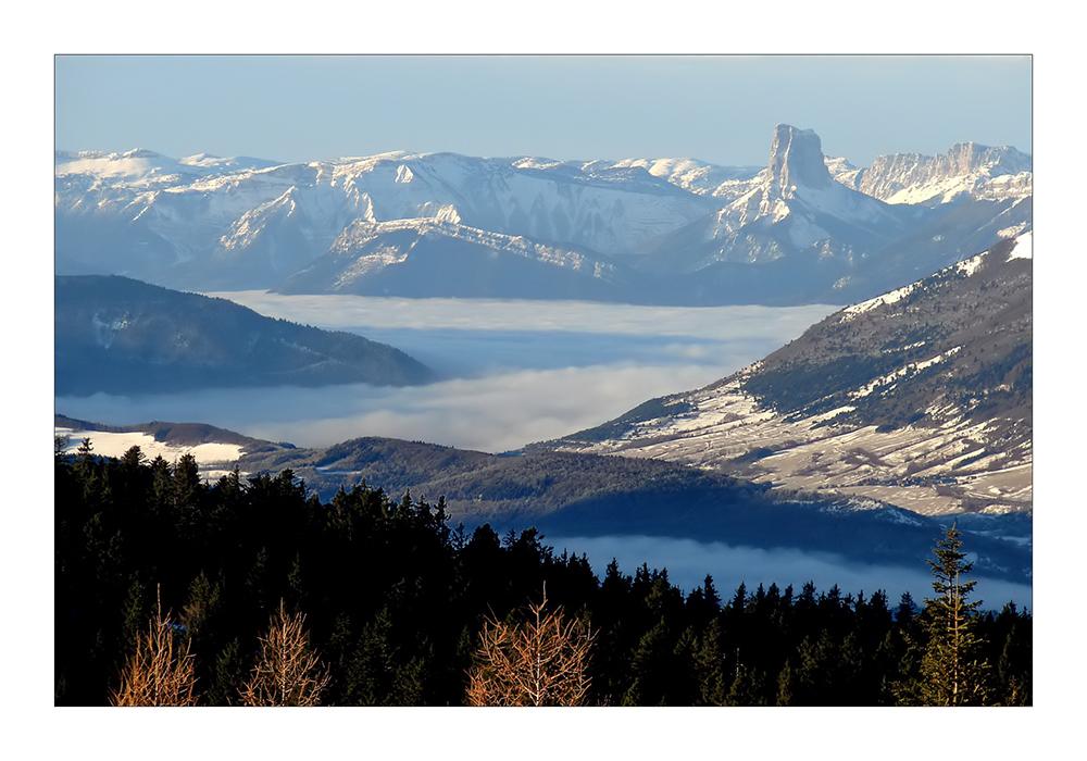 Le Mont Aiguille in der Nähe von Grenoble