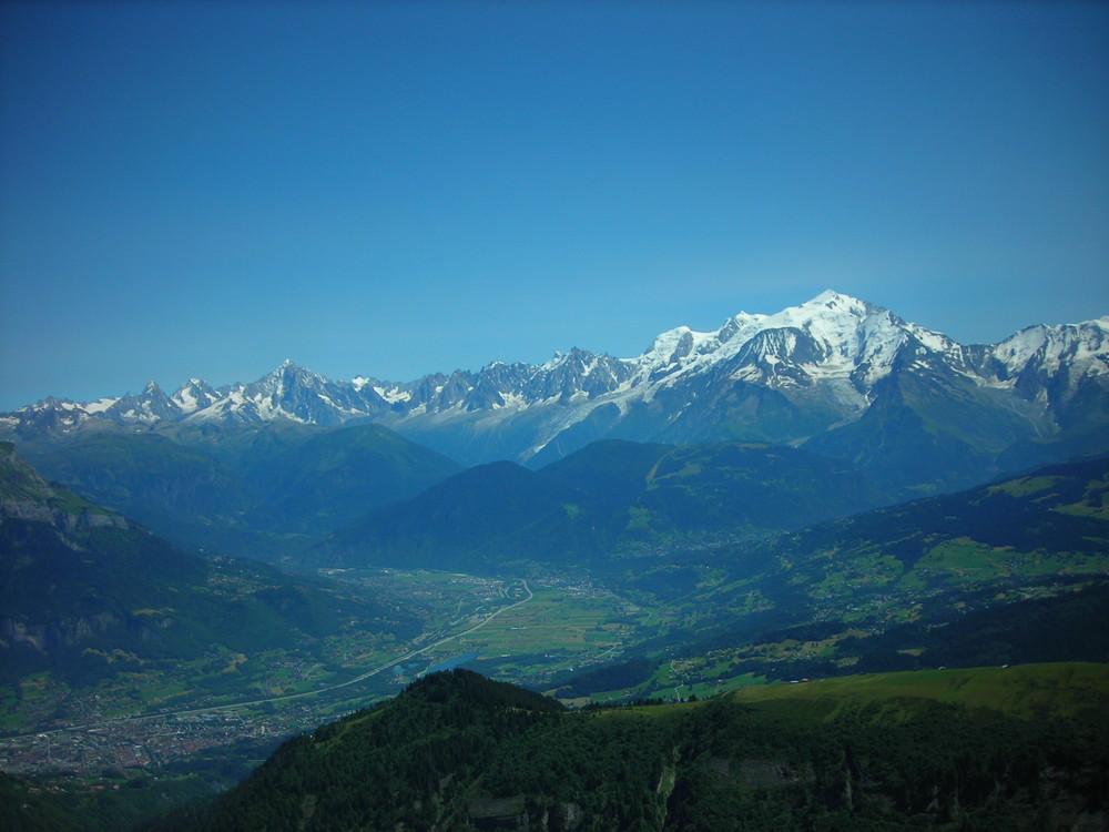 le Mont Blanc et ses sommets