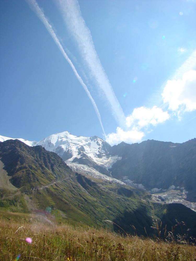 Le mont blanc un apres midi d été