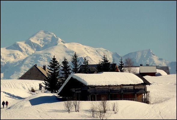 Le Mont-Blanc , vu de Sommand (74)