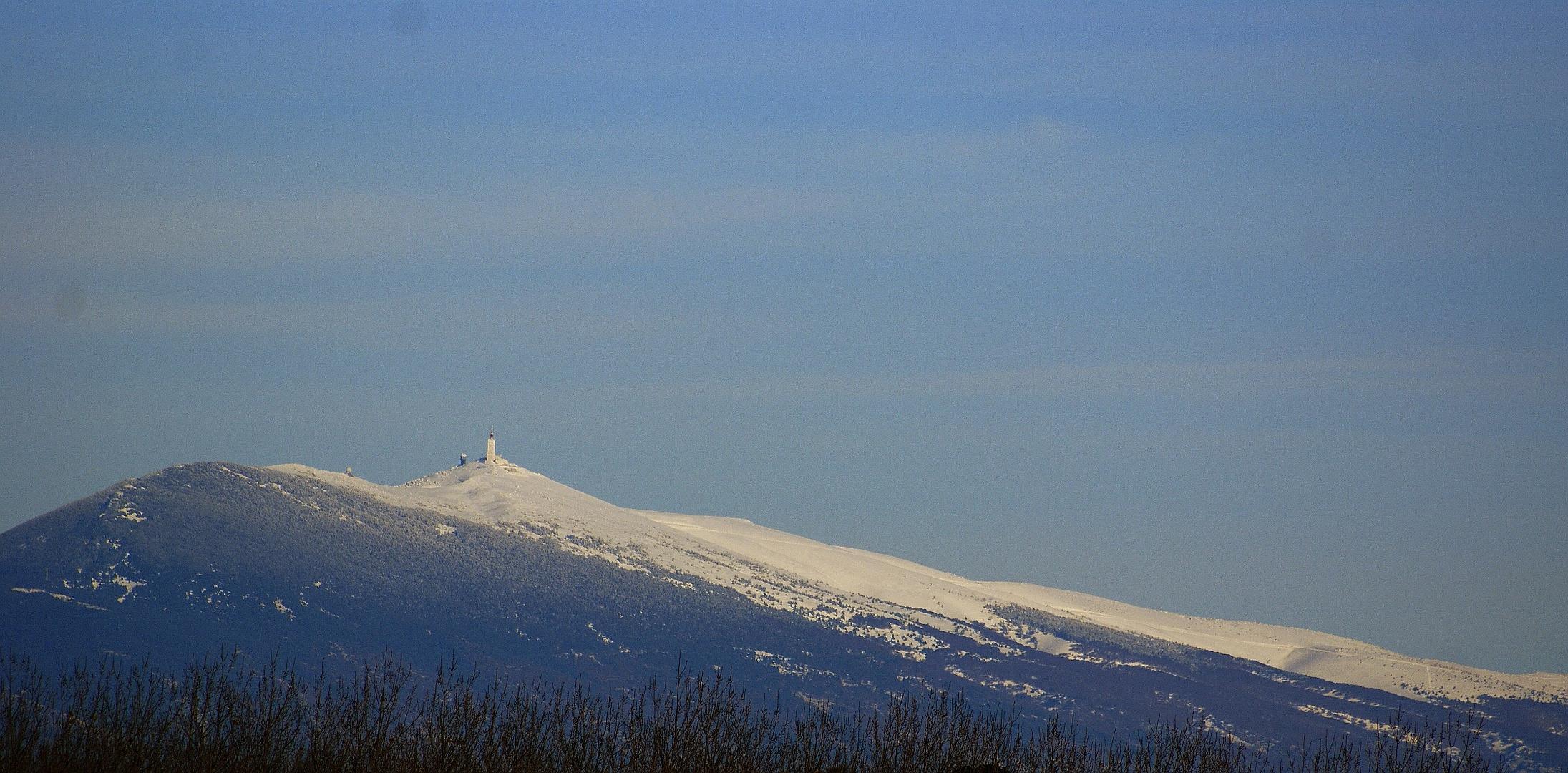 """Le Mont Chauve s'est fait des """"cheveux blancs"""""""
