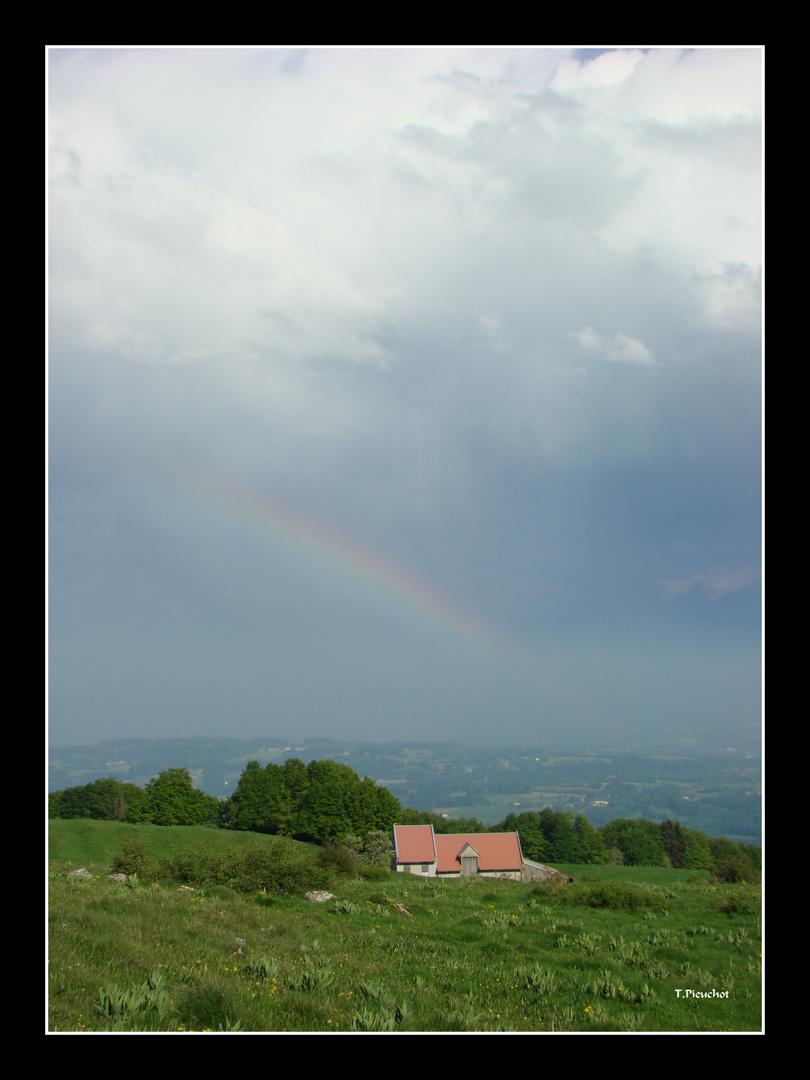le mont Saleve aprés l orage