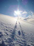 Le mont Salève sous neige et soleil