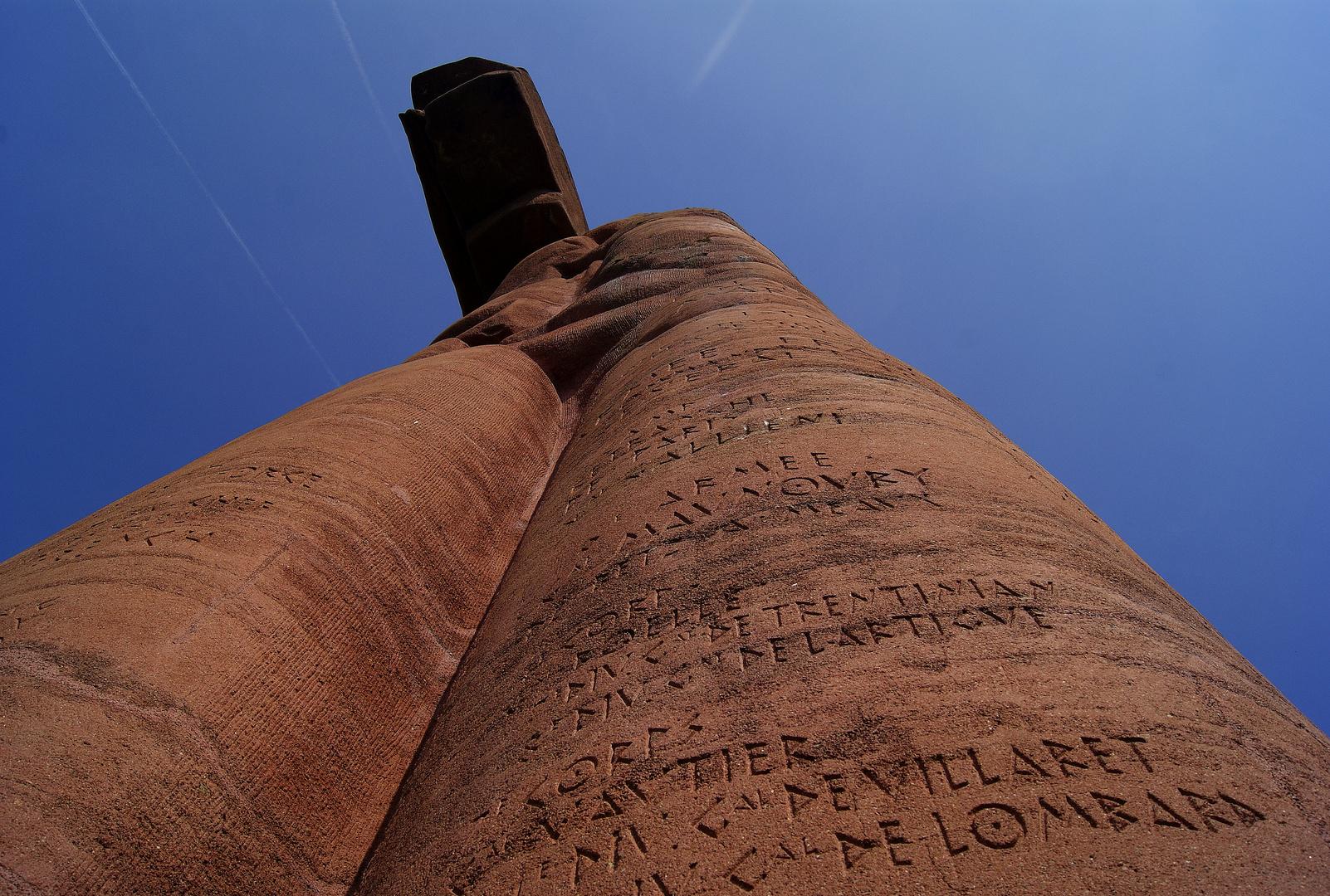 le monument de Mondement, Marne