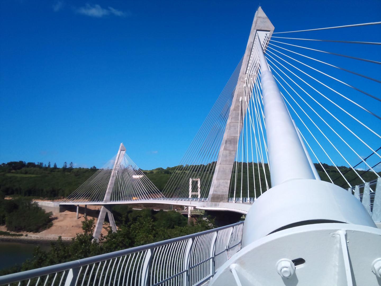 le nouveau pont de TERENEZ