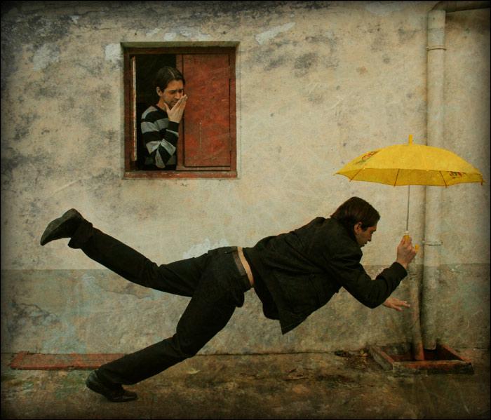 Le parapluie jaune - Street version
