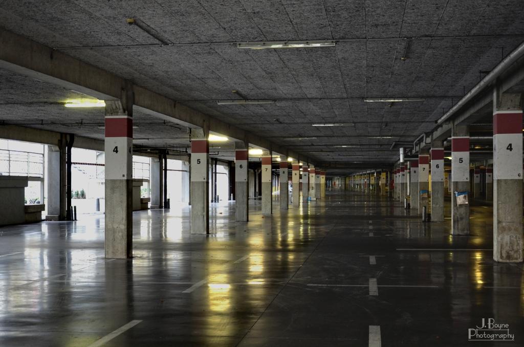 Le parking (vide) de belle-île