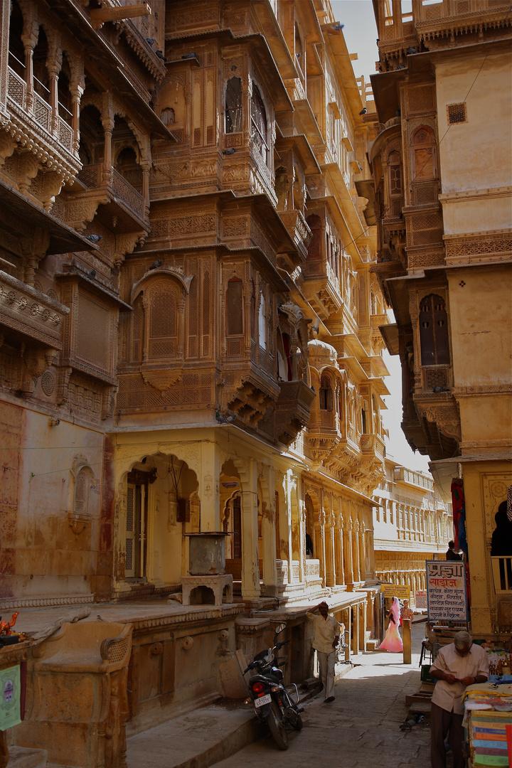 Le Patwon Ki Haveli, palais du centre de Jaisalmer, Rajasthan.
