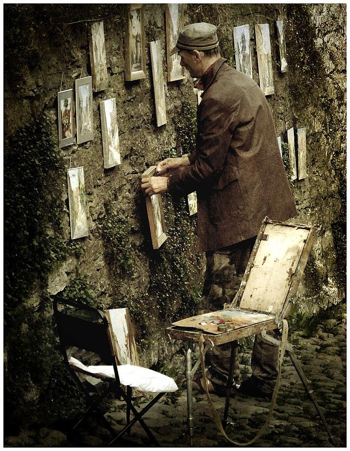 Le peintre de rue à Talline
