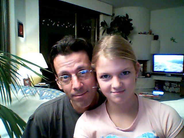 Le père et la fille.