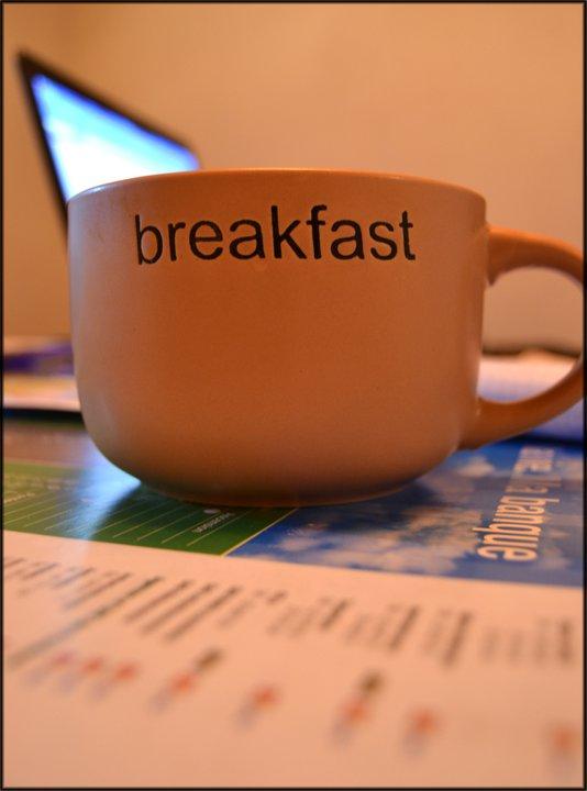 Le petit déjeuner avant le travail