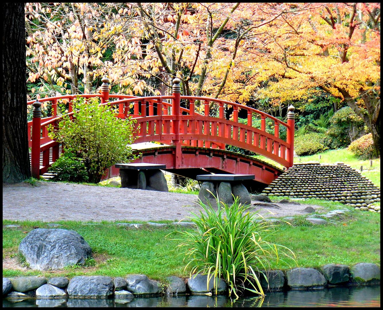 le petit pont de bois (rouge)