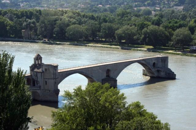 le pont d'avignon vu du rocher des doms