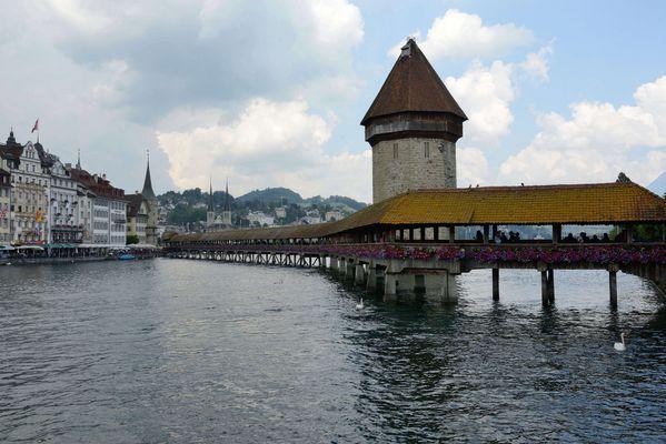 Le pont de la Chapelle à Lucerne