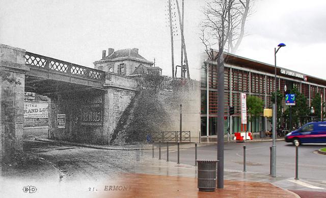 Le pont de la gare d'Ermont-Eaubonne...hier et aujourd'hui