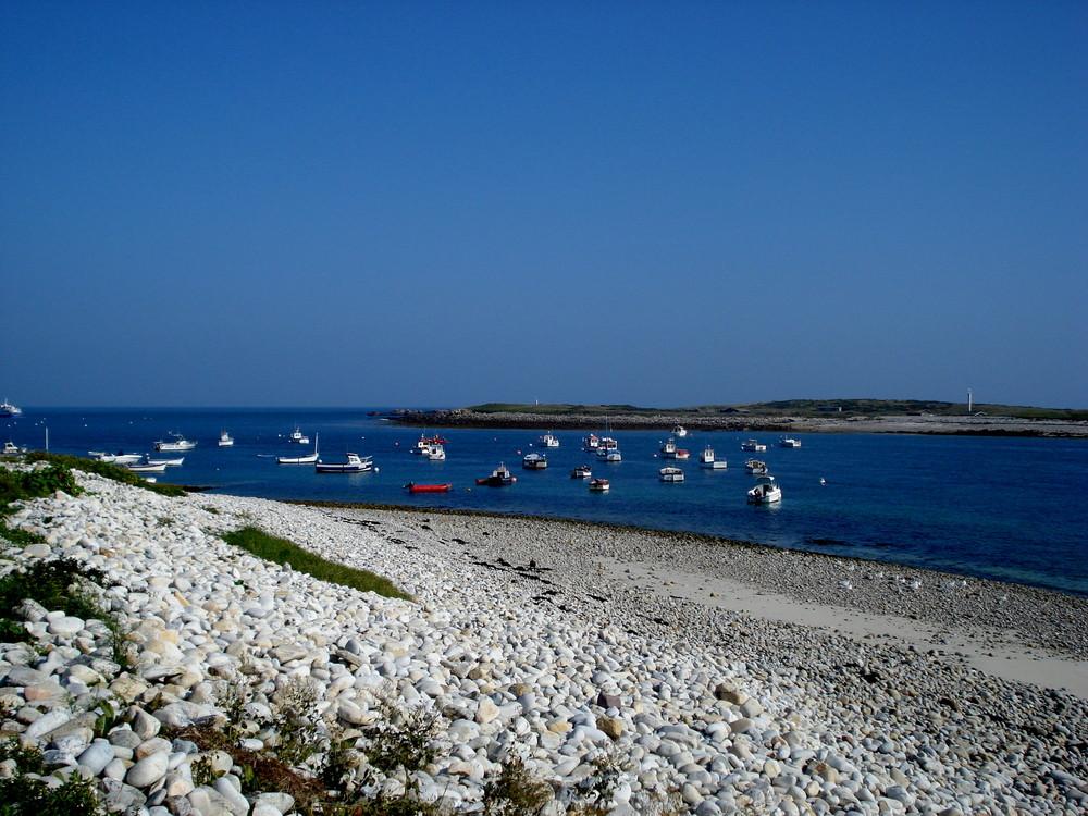 le port de l ile molene