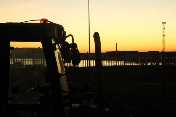 Le port de LA JOLIETTE en travaux, MARSEILLE