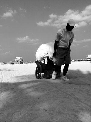 Le porteur de serviette - Miami Beach
