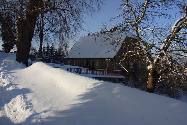 Le presbytère en hiver