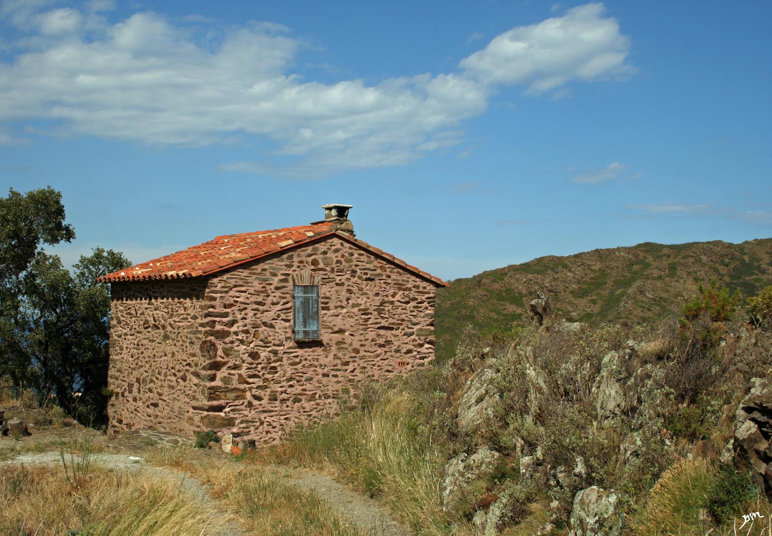 le refuge d'un viticulteur de banuyls