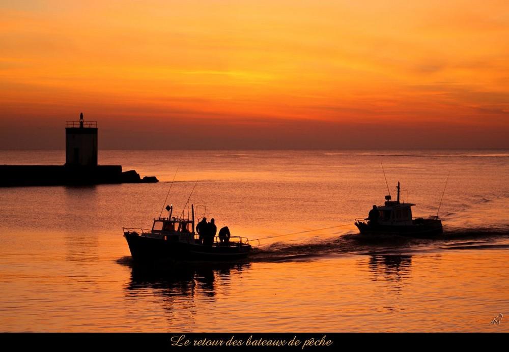 Le retour des pêcheurs....