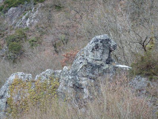 Le rocher du lion a Pont D'ouilly Calvados