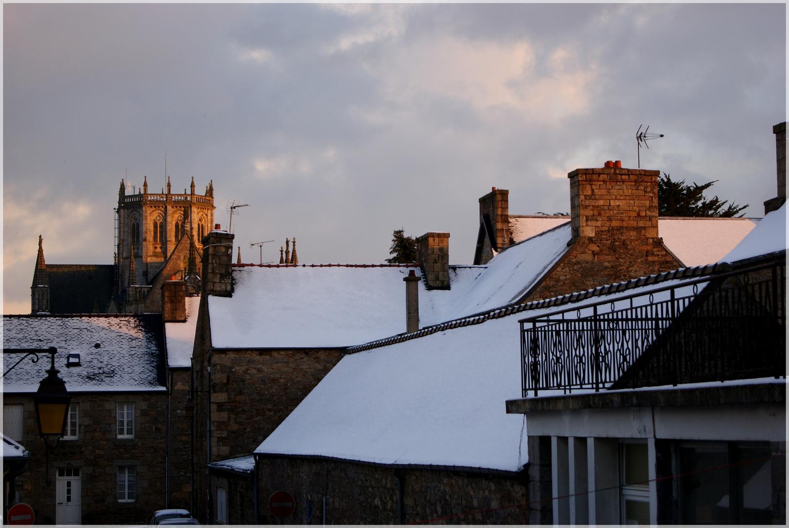 Le rose d'un soir hivernal sur les toit de ma très chère ville =P