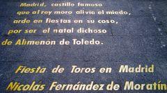 Le scritte Di Calle De Las Huertas a Madrid