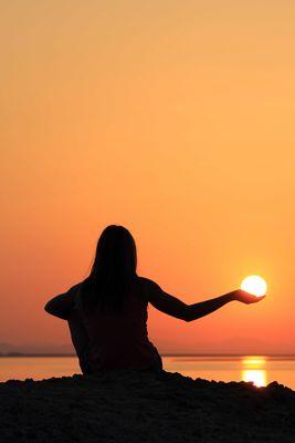 le soleil a portee de main