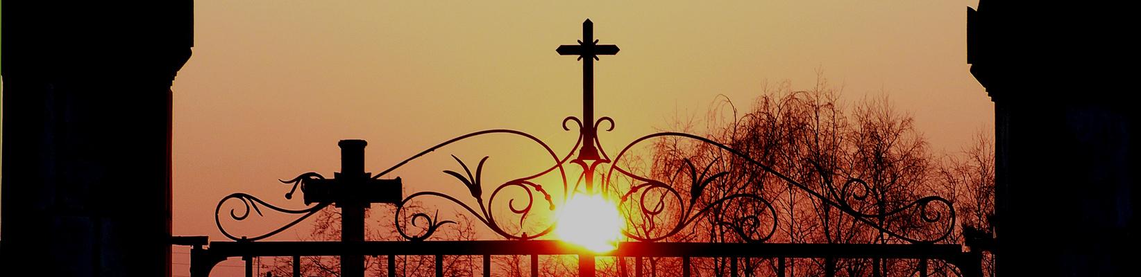 Le soleil du cimetière.