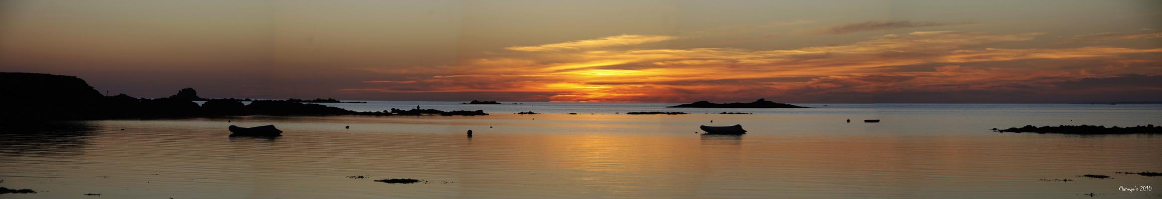 Le soleil se couche sur Quiberon