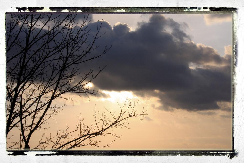 le soleil se couvre, il a froid!