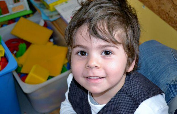 Le sourire d'un enfant.